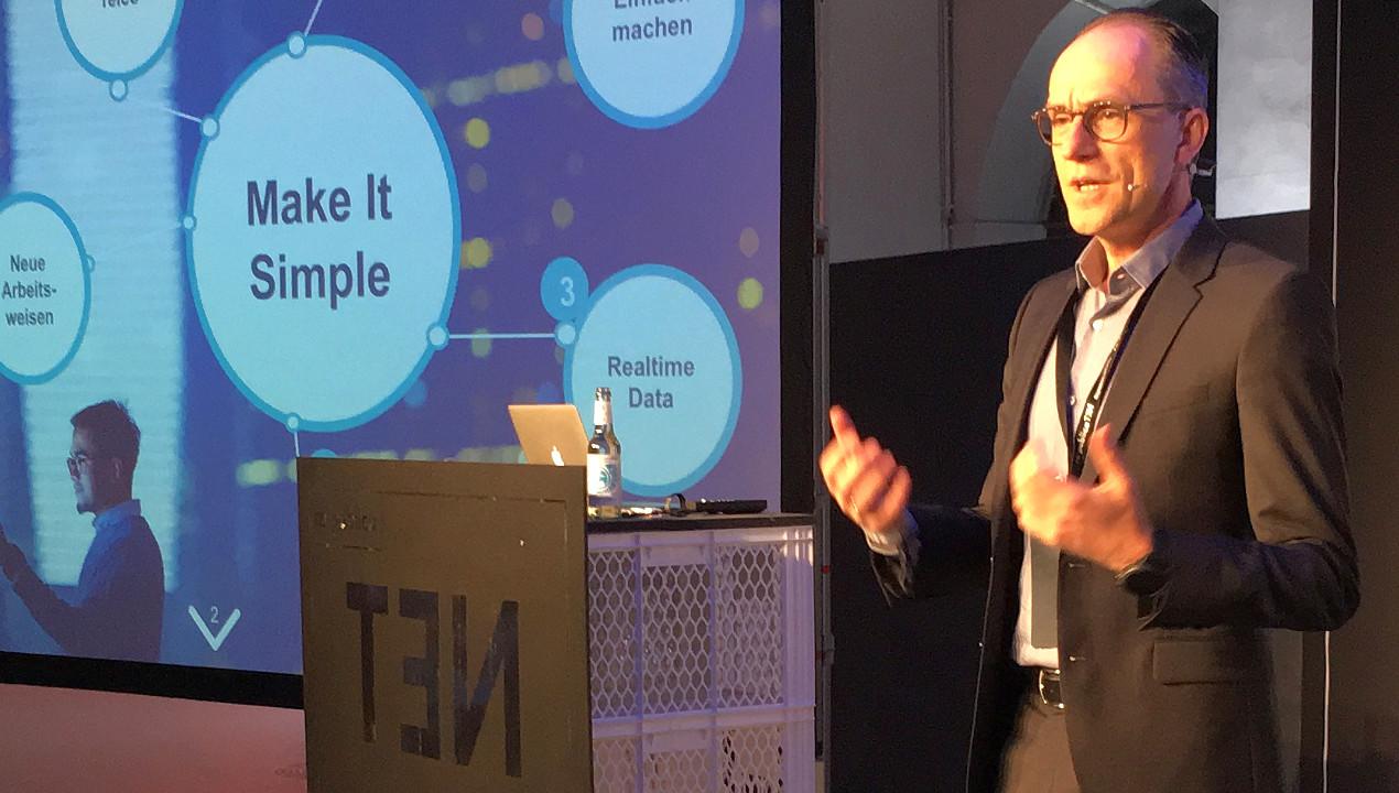 Ulrich Irnich, Director Simplification & Transformation bei Telefónica Deutschland, auf der re:publica 2016