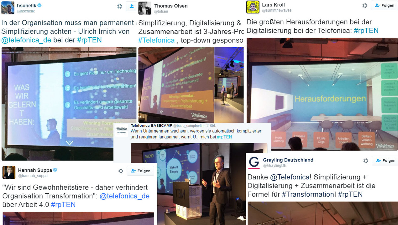 Tweets zum Telefónica-Vortrag auf der re:publica 2016