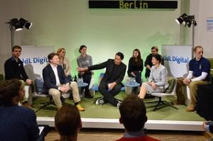 Sahra Wagenknecht und Gero Hesse beim UdL Digital Talk