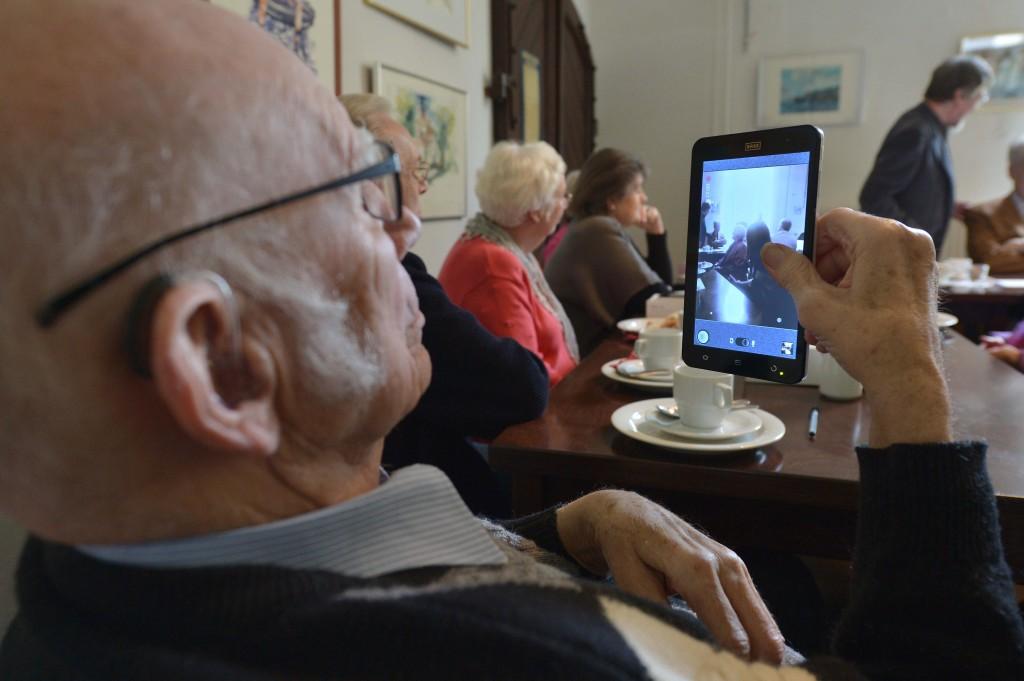 Stets griffbereit: Das Tablet-PC