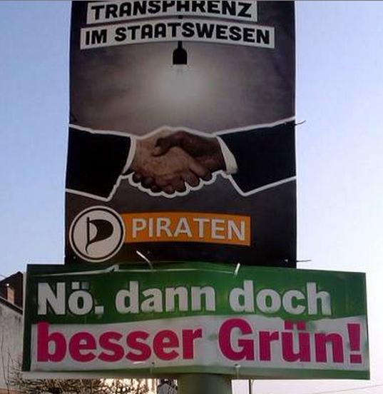 Kreativ im Wahlkampf: Die Grünen