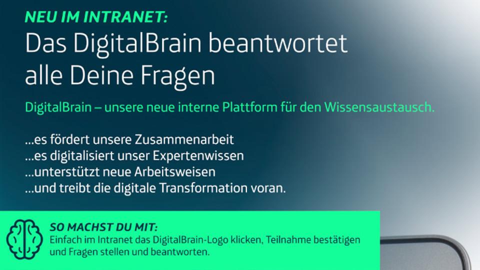 DigitalBrain im Intranet von Telefónica Deutschland