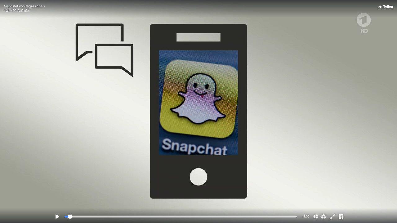 TV-Beitrag der Tagesschau über Snapchat-Zahlen des Telefónica BASECAMP