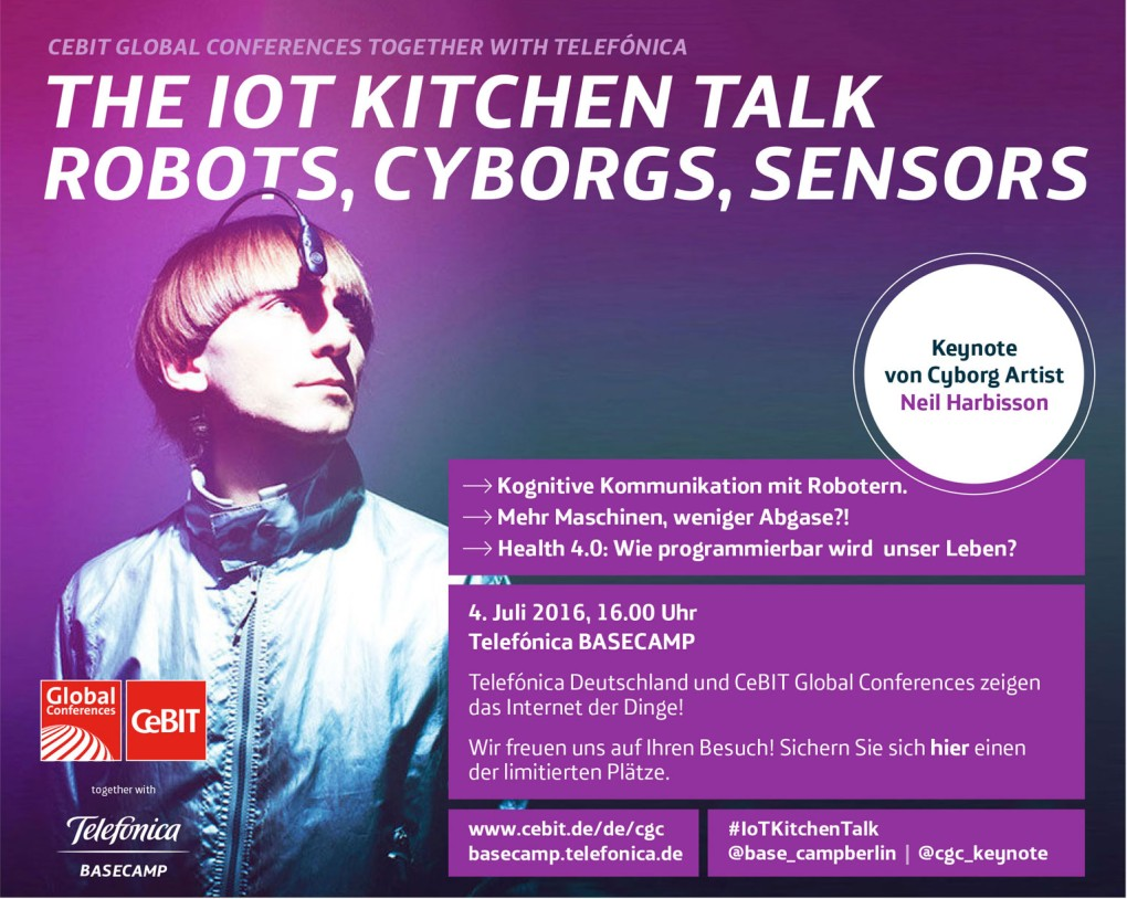 IoT Kitchen Talk: Save the Date für den 4. Juli 2016 im Telefónica BASECAMP