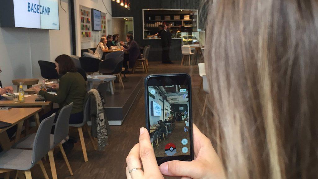 Pokémon Go im Telefónica Basecamp