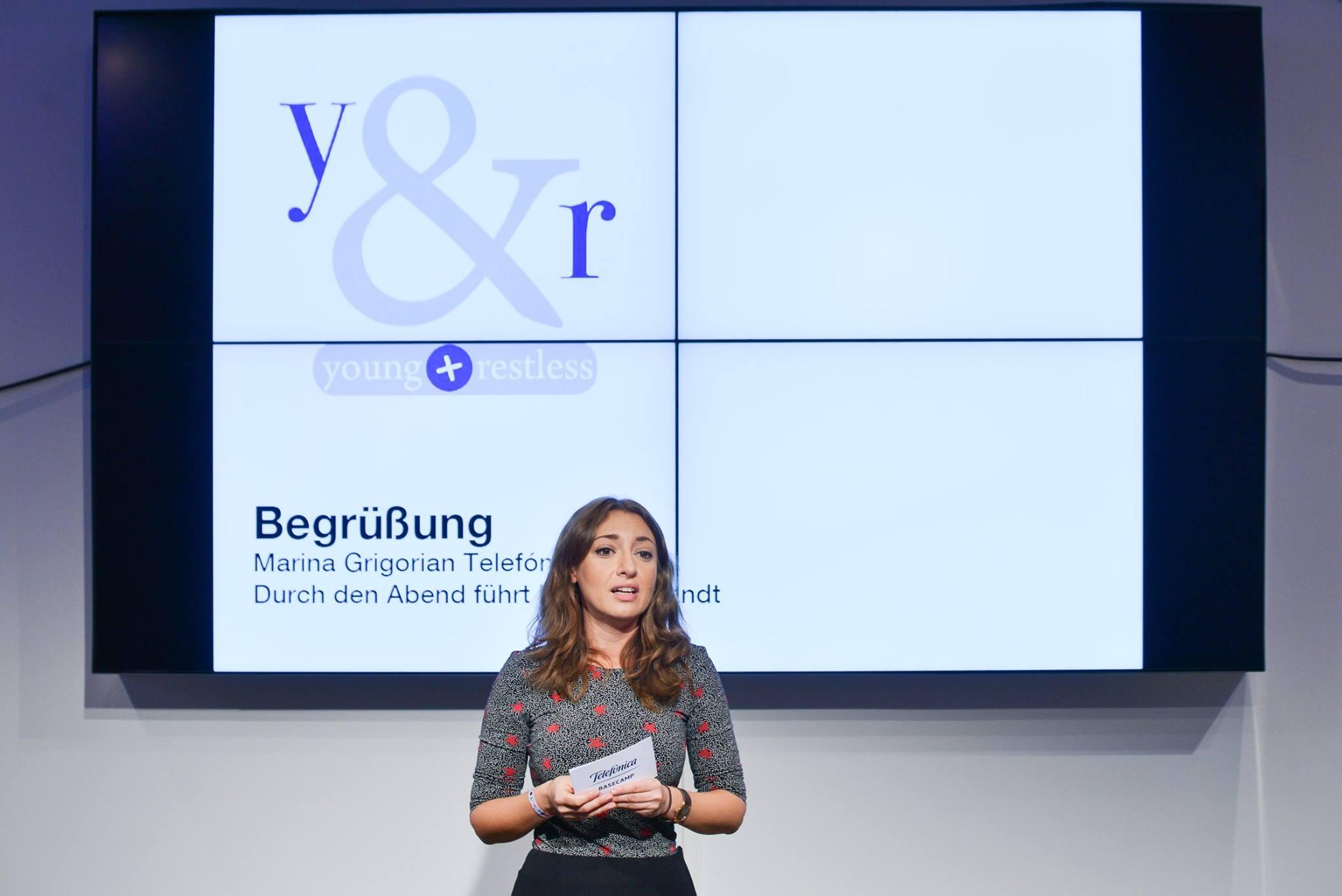 Marina Grigorian (Telefónica) bei der Eröffnung der Sommeredition von young+restless im Juli 2016