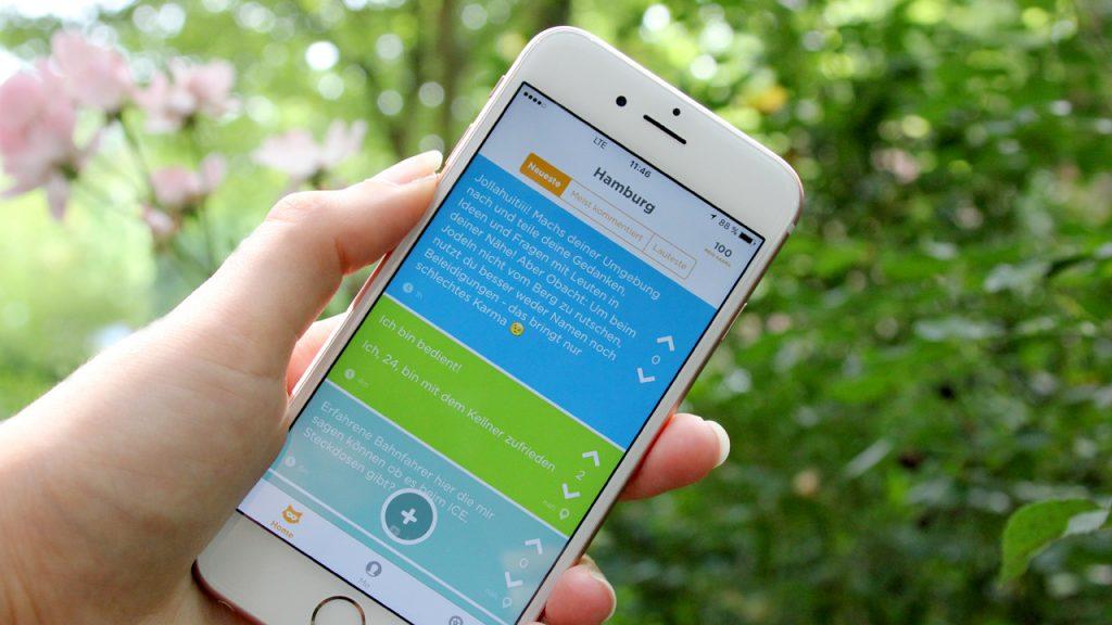 Die Jodel App ist bei Studenten beliebt.