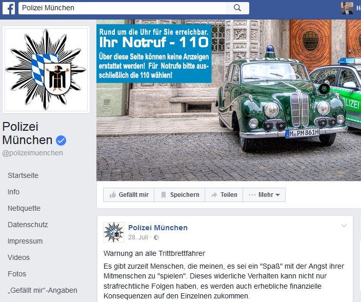 Polizei Social Media