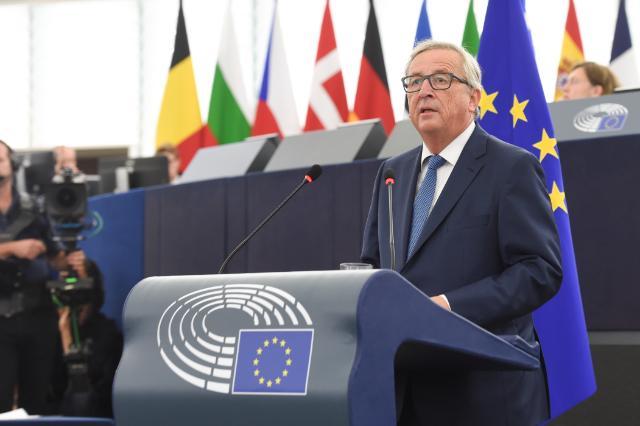 """Jean-Claude Juncker bei seiner """"State of the Union Speach"""", Quelle EU Kommission"""
