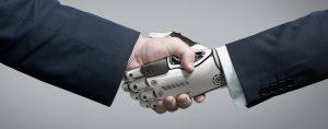 Roboterhand Roboter Handshake Arbeit 4.0
