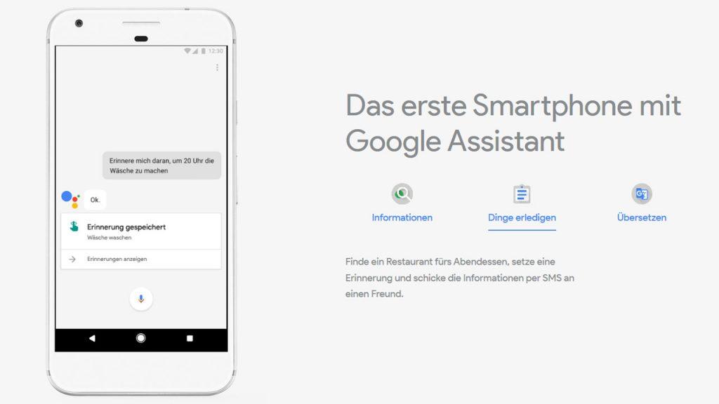 Google Assistant - Google Pixel phone