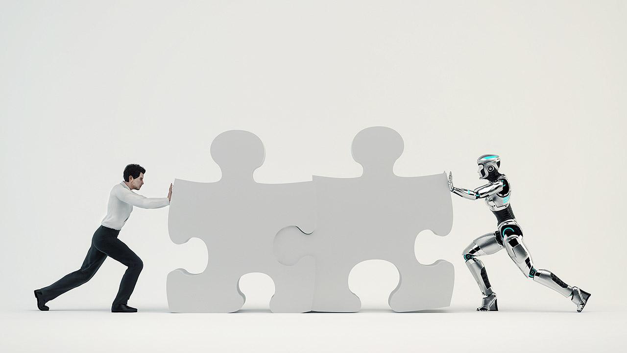 Mensch Roboter Team