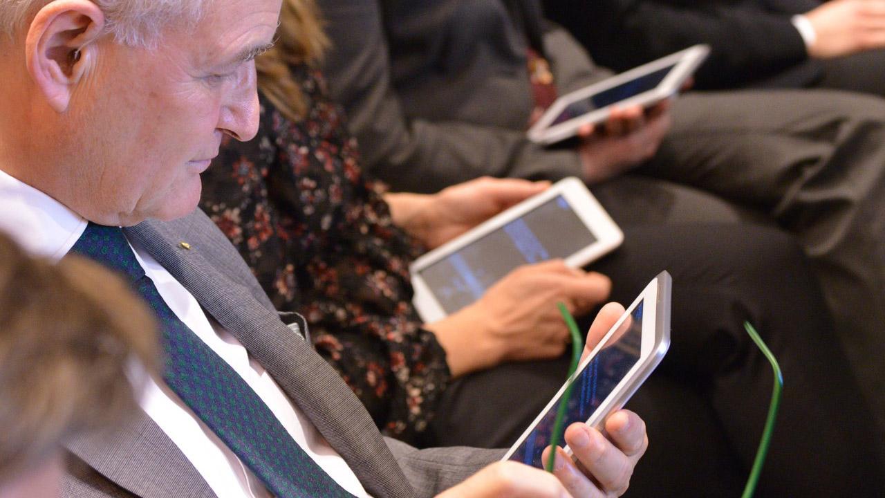 Abstimmung mit dem Tagesspiegel Voting Pad. | Foto: Henrik Andree