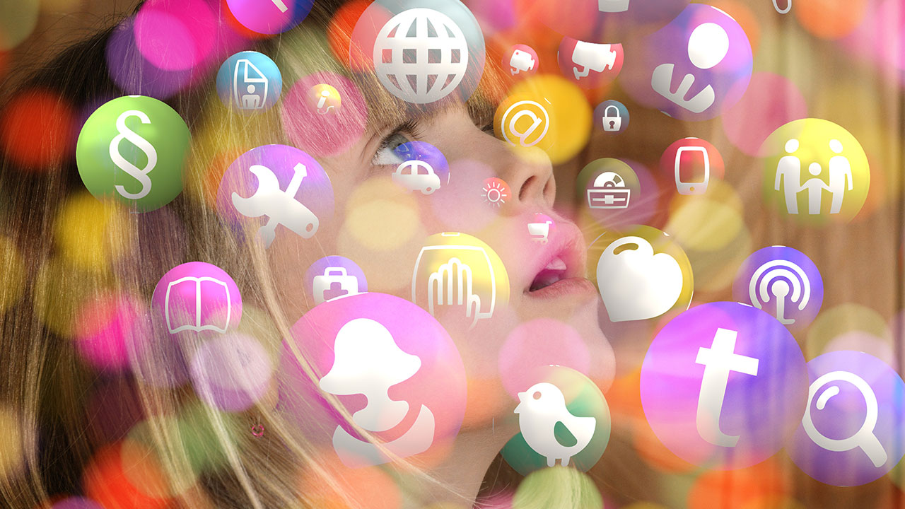 pixabay Maedchen Kind Gesicht Social Media Icons Digital