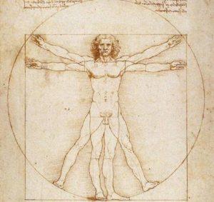 Anatomie vor Big Data; Leonardo da Vinci, Homme Vitruve