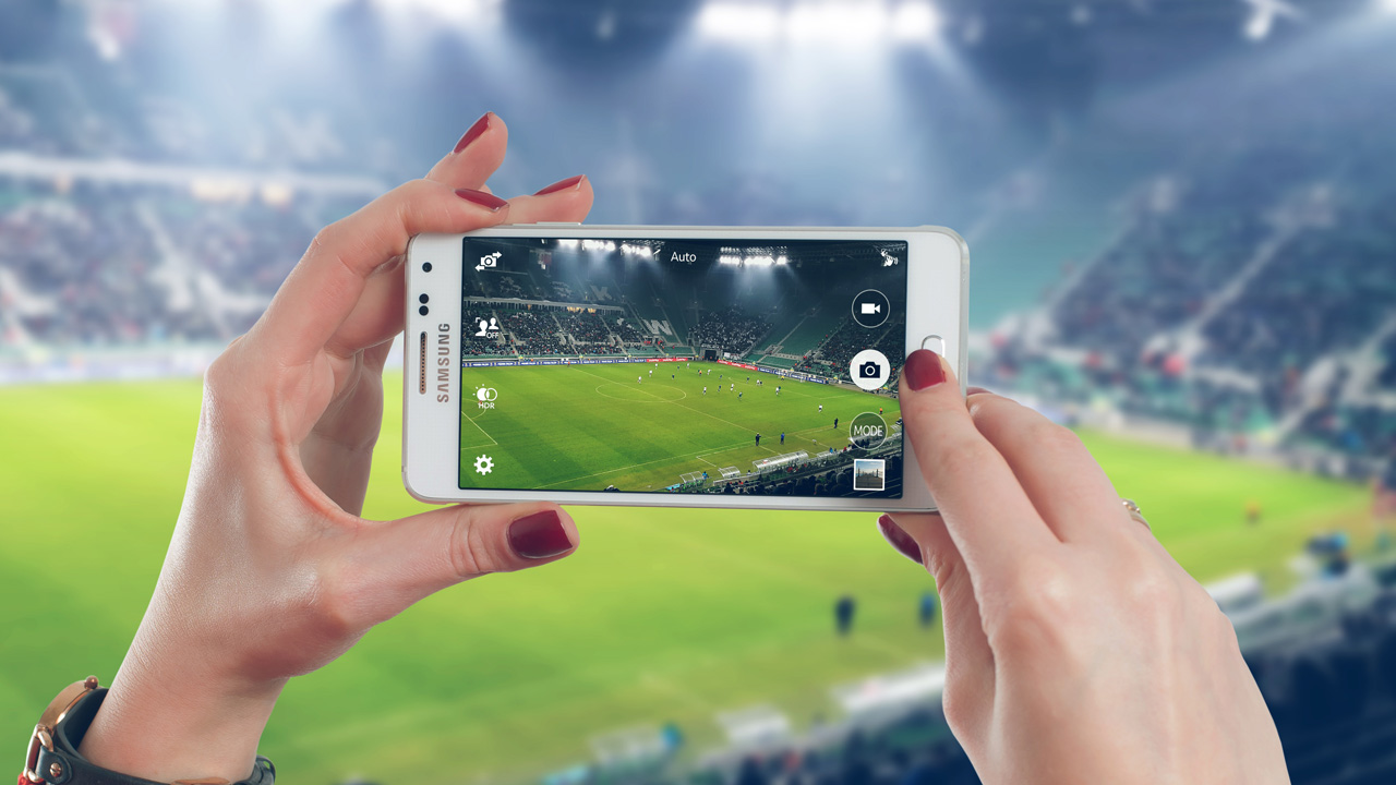 StockSnap Stadion Fussball Handy Smartphone Foto Video
