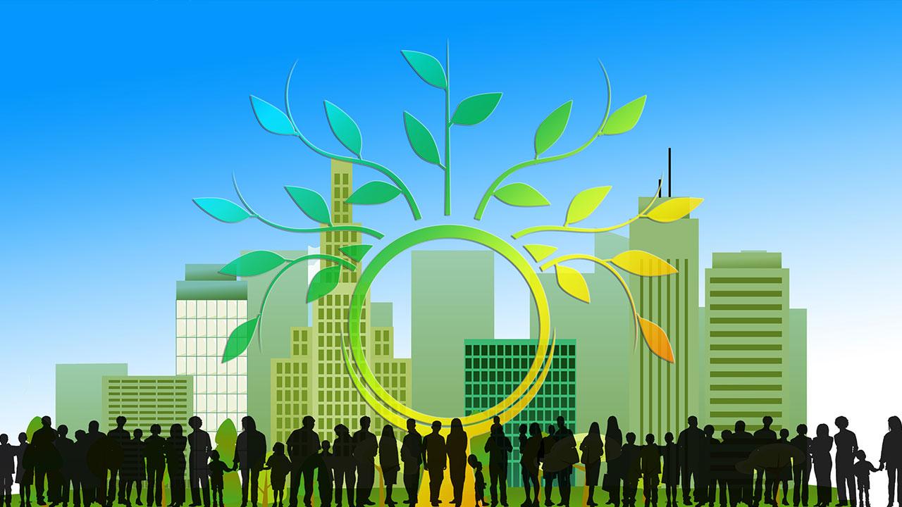 pixabay Stadt Menschen Vektor