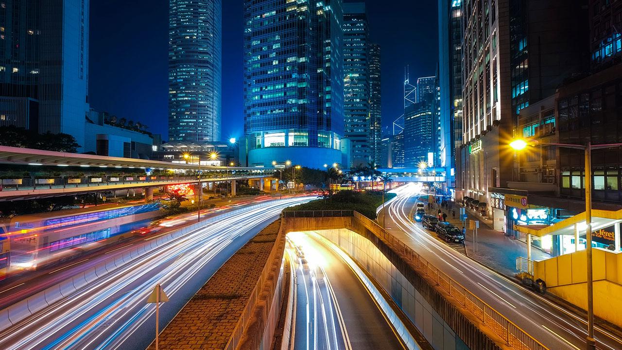 pixabay Hong Kong Strasse Autos Verkehr Nacht