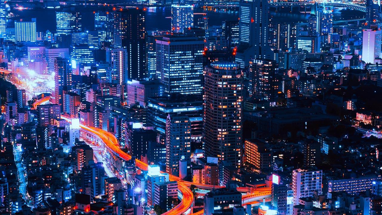 Unsplash A Stadt Lichter Nacht
