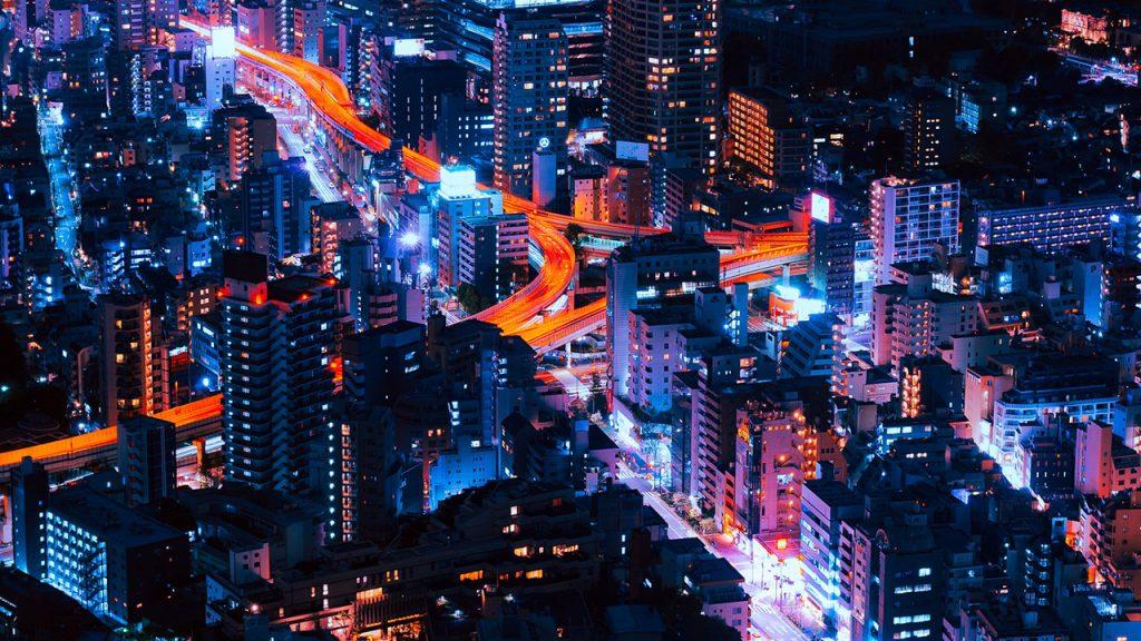 Unsplash B Stadt Nacht Lichter