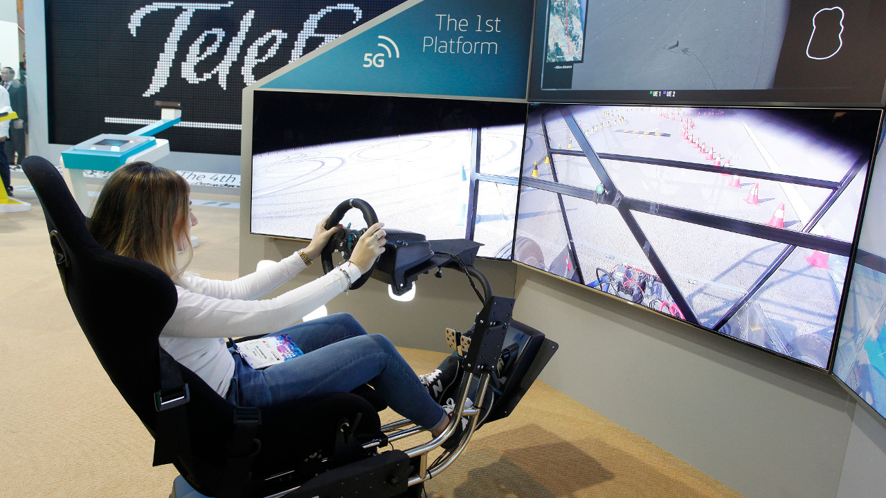Ferngesteuertes Auto: 5G-Demonstration auf dem Mobile World Congress 2017. | Foto: Telefónica