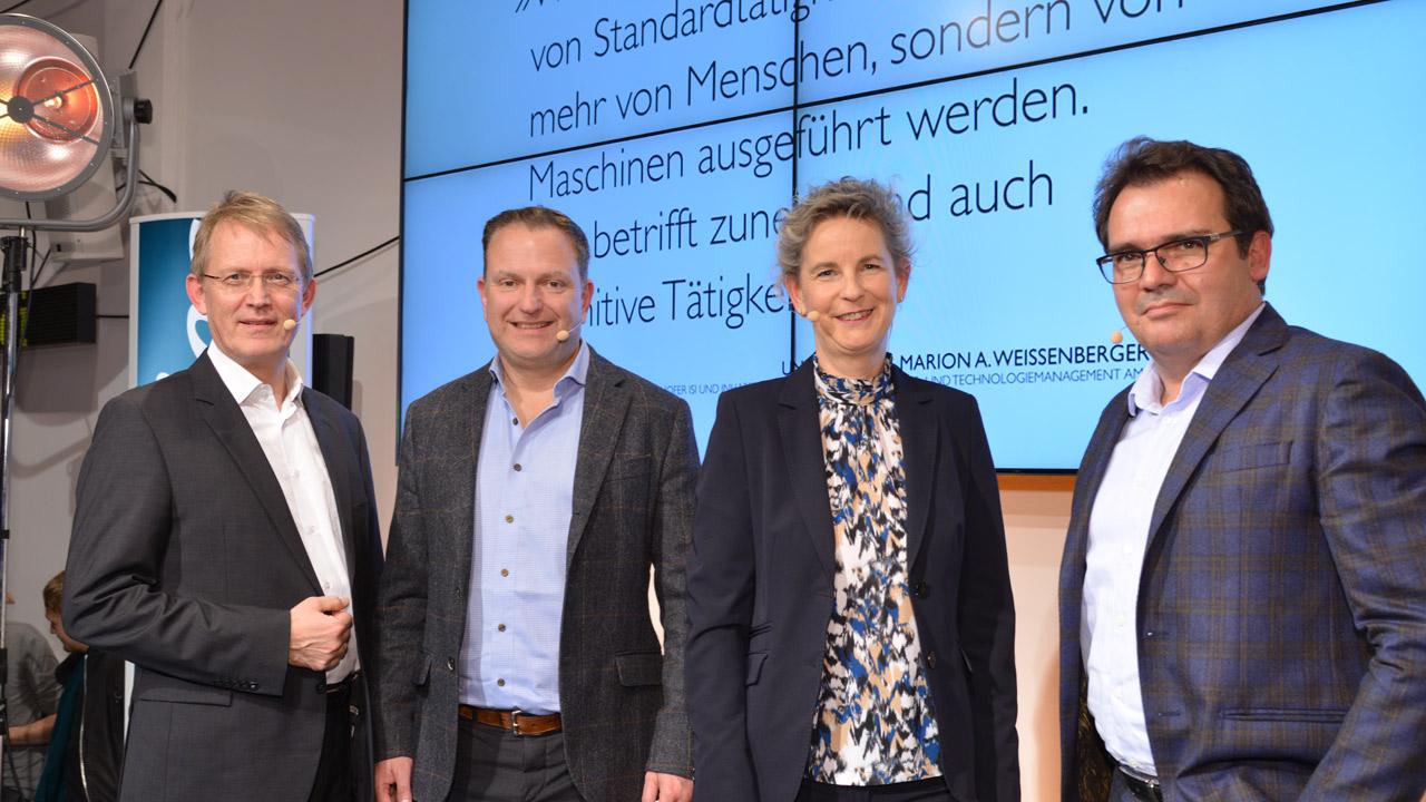 Stephan-Andreas Casdorff, Nicolaus Gollwitzer, Marion Weissenberger-Eibl und Stefan Stroh | Foto: Henrik Andree