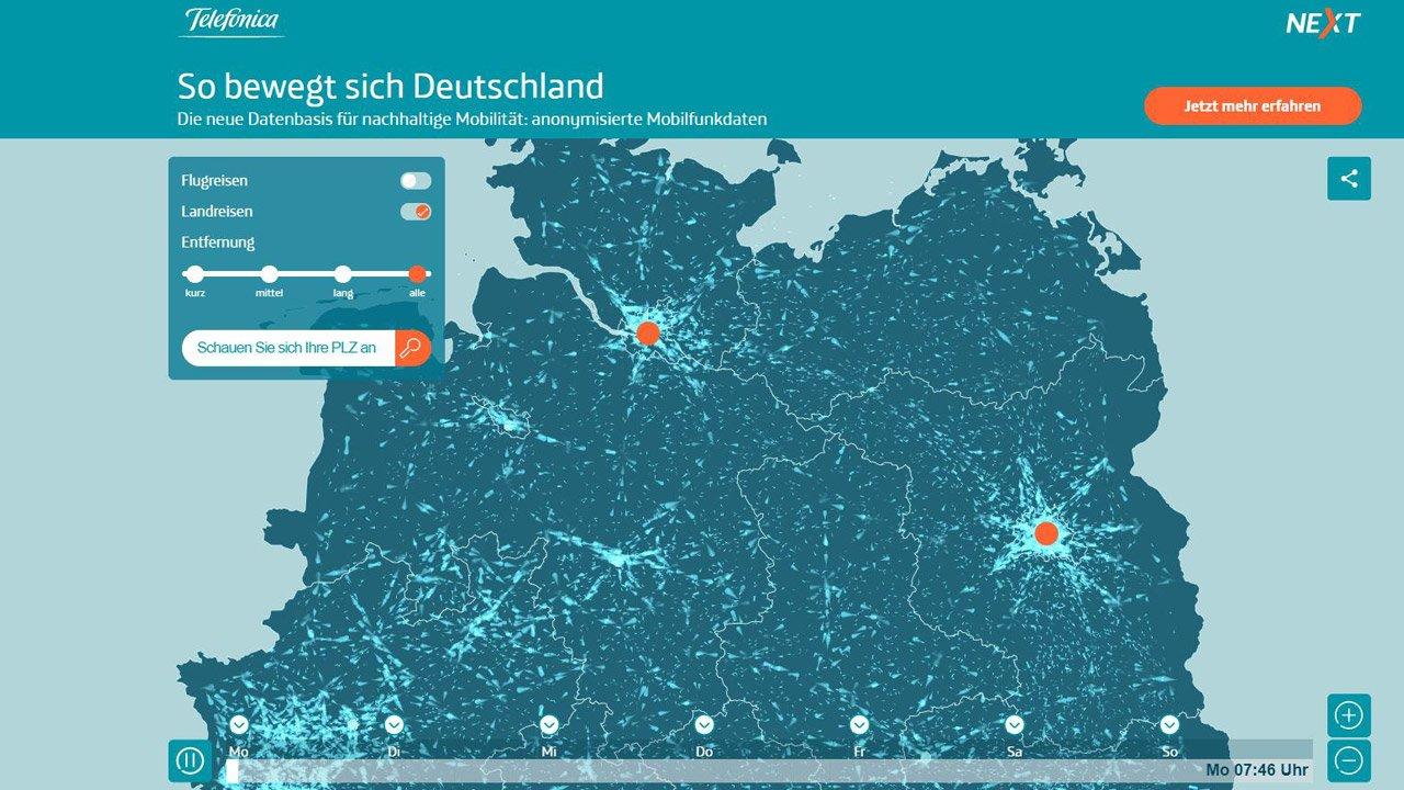 Telefónica NEXT: So bewegt sich Deutschland.