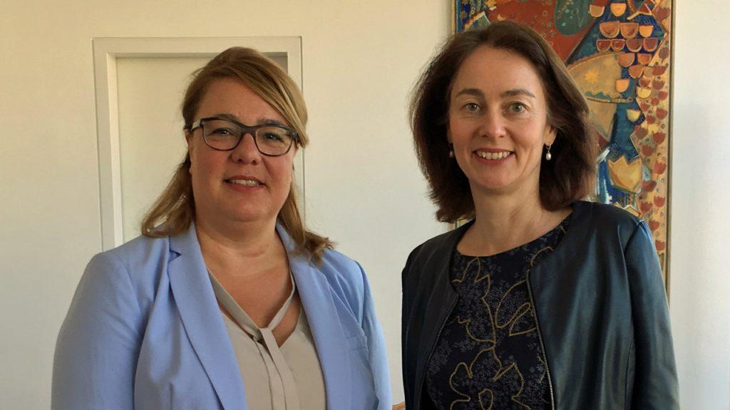 Valentina Daiber und Katarina Barley. | Foto: Telefónica Deutschland