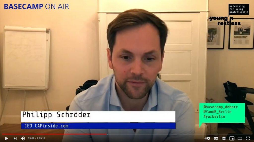 Screenshot der Veranstaltung: Philipp Schröder, CEO CAPInside.com