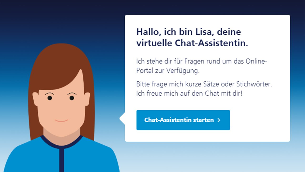 Service-Chatbot Lisa | Grafik: Screenshot